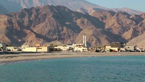 Sultanat von Oman, Musandam-Halbinsel, das Golf von Oman, Daba, nahe Dibba-Al-Baya stock video footage