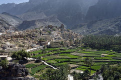 Sultanate Oman. The village Bilad Sayt, sultanate Oman Royalty Free Stock Images