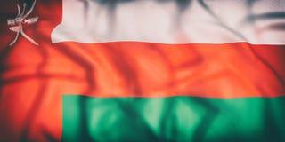 Sultanate of Oman flag waving Stock Photo