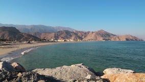 Sultanato de Omán, península de Musandam, el golfo de Omán, Daba, cerca del al-Baya de Dibba almacen de video