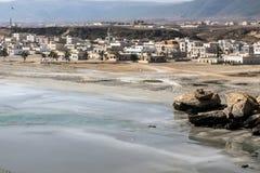 Sultanato Omán 11 de Salalah Dhofar de la ciudad de la meseta de Taqah de la opinión de Coastside fotos de archivo