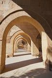 Sultanhani商队投宿的旅舍的画廊在土耳其的 库存图片