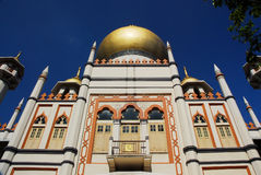 Sultanmoschee Singapur 1 Lizenzfreies Stockfoto