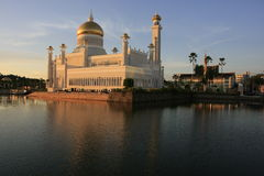 SultanOmar Ali Saifudding moské, Brunei Arkivbilder