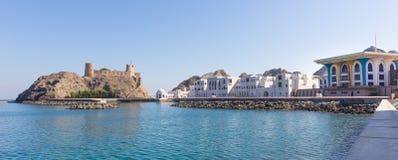 Sultanslott i Muscat, Oman royaltyfria foton