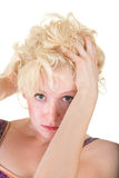 Sultry Blond Woman Stock Image