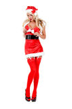 Sultry Christmas Helper Helper Royalty Free Stock Images