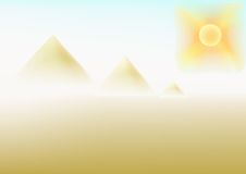 Sultry desert. Mirage in a sultry desert, vectorial illustration Royalty Free Stock Photo