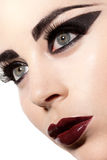 Sultry Gothic Beauty Stock Photography
