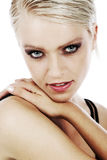 Sultry green-eyed beautiful blond Royalty Free Stock Photo