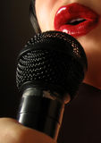 Sultry singer royalty free stock images