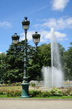 Sultry summer in the city park, Toulouse Royalty Free Stock Image