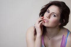 Sultry Sweet girl. Seductively innocent Stock Photography
