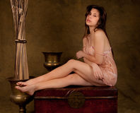 Sultry Vintage Elegance Royalty Free Stock Photography