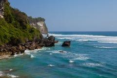 Suluban海滩,巴厘岛,印度尼西亚 免版税库存图片