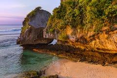 Suluban beach in Bali - Indonesia Stock Image