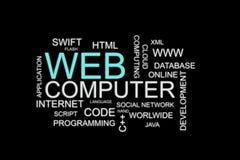 Sulutions en ligne de développement de Web Image stock