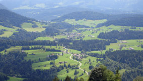 Sulzberg view. Panoramic view on Sulzberg Austria Stock Images