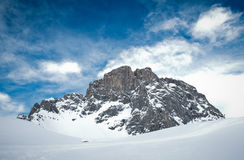 Sulzfluh mountain in Swiss alps in winter Royalty Free Stock Photography