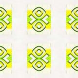 Sumário amarelo do teste padrão geométrico foto de stock