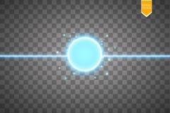 Sumário azul do anel da energia projeto conceptual do vetor com área livre no centro para algum objeto Fotografia de Stock Royalty Free