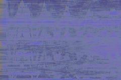 Sumário azul do ruído do VHS do pulso aleatório, distorção ilustração royalty free
