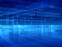Sumário azul do salão ilustração stock
