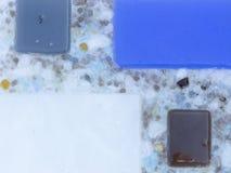Sumário azul e cinzento Imagem de Stock Royalty Free
