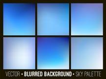Sumário azul grupo borrado do fundo Conceito do céu e das nuvens Alise a coleção dos elementos do projeto Fotos de Stock Royalty Free