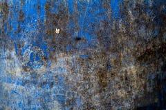 Sumário azul trashcan bonito da textura do fundo, escuro Imagens de Stock