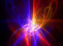 Sumário azul vermelho Imagem de Stock Royalty Free