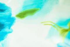 Sumário branco e azul com seda borrada da textura Forme cores da reticulação moderna para o teste padrão, papel de parede, bandei Imagens de Stock