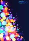 Sumário colorido brilhante do efeito da luz do bokeh ilustração do vetor