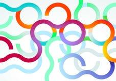 Sumário colorido das curvas ilustração do vetor