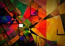Sumário colorido dimensional ilustração stock
