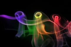 Sumário colorido do fumo Fotografia de Stock