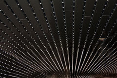 Sumário com fileiras das luzes Fotos de Stock