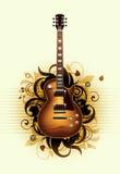 Sumário com guitarra bonita ilustração stock
