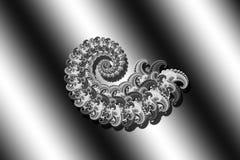 Sumário 3D-image em um fundo preto e branco de elementos modelados do fractal, screensaver à moda moderno da fantasia, textura pa ilustração royalty free