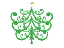 Sumário da árvore de Natal ilustração do vetor