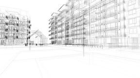 sumário da arquitetura 3D ilustração royalty free