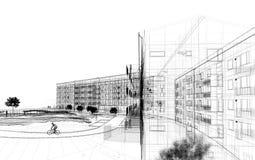 sumário da arquitetura 3D ilustração stock