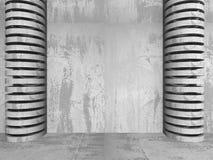 sumário da arquitetura 3D Fundo do muro de cimento Imagem de Stock