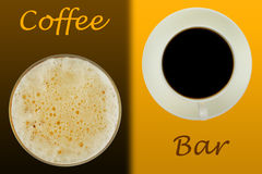 Sumário da barra de café imagens de stock royalty free