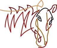 Sumário da cabeça de cavalo do curso da escova ilustração royalty free