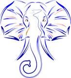 Sumário da cara do elefante ilustração stock