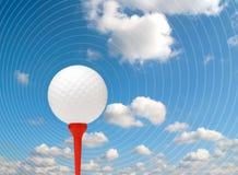 Sumário da esfera de golfe ilustração stock