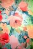 Sumário da flor do retrato Fotografia de Stock Royalty Free