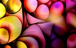 Sumário da foto com formulários de papel arredondados coloridos imagem de stock royalty free