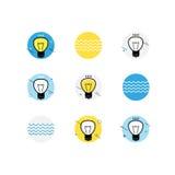 Sumário da ideia do simbol da lâmpada Foto de Stock